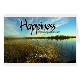 Inspiration -- Aristotle and Happiness Card