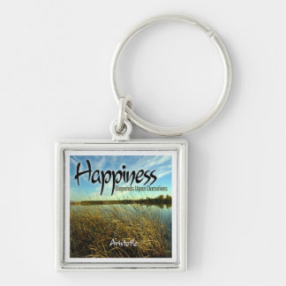 Inspiration -- Aristotle and Happiness Keychain