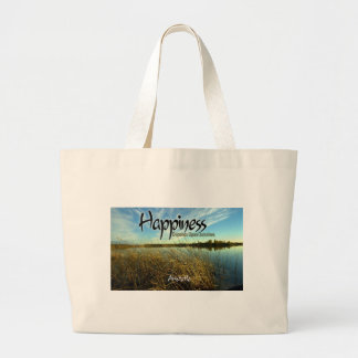 Inspiration -- Aristotle and Happiness Large Tote Bag