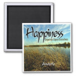 Inspiration -- Aristotle and Happiness Fridge Magnet