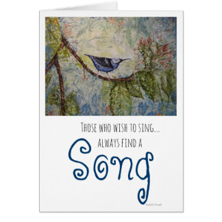Inspiration Bird Watercolor Art Greeting Card