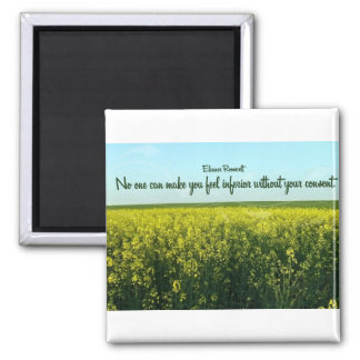 Inspiration by Eleanor Roosevelt 2 Inch Square Magnet