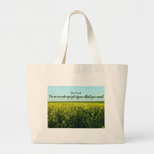 Inspiration by Eleanor Roosevelt Large Tote Bag