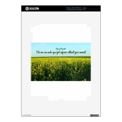 Inspiration by Eleanor Roosevelt Skins For iPad 2