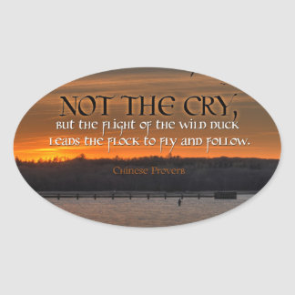 Inspiration -- Chinese Proverb Oval Sticker
