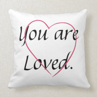 Inspiration Encouragement Love Loved CricketDiane Throw Pillow