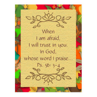 Inspiration-Fear and Trusting in the Lord-Postcard Postcard
