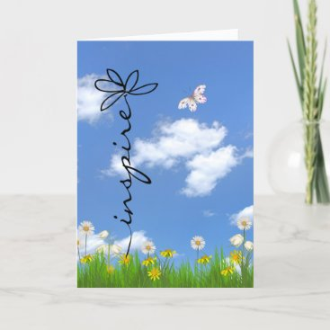 Inspiration flower and butterfly card