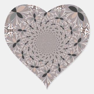 Inspiration Flower Heart Sticker