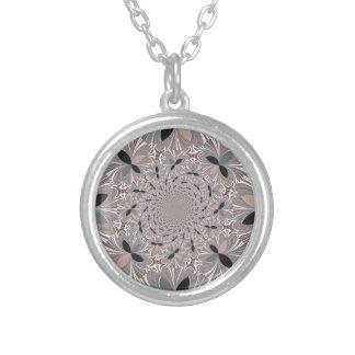Inspiration Flower Round Pendant Necklace