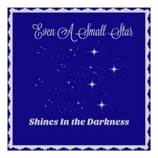 Inspiration For Children - A Small Star Shines Poster