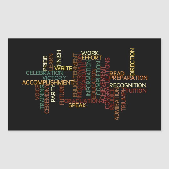 Inspiration for Student in College or High School Rectangular Sticker