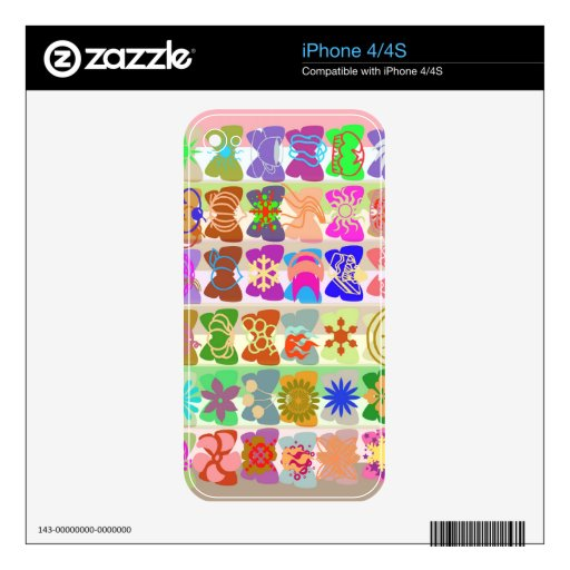 Inspiration from Colorful Lives of Butterflies Decals For iPhone 4S