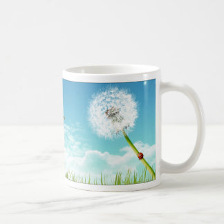 Inspiration from the nature : grass classic white coffee mug