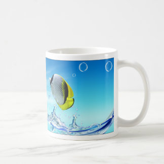 Inspiration from the nature : summer fresh classic white coffee mug