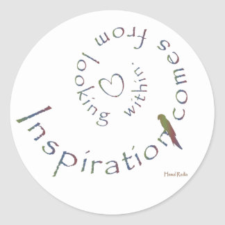 Inspiration from within round stickers