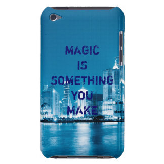 Inspiration hope quote city night background iPod touch case