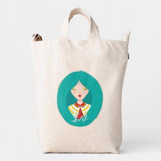 Inspiration Illustration: Kind Girl Duck Canvas Bag