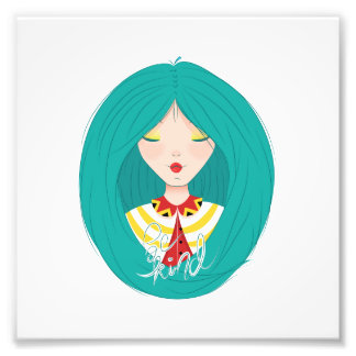 Inspiration Illustration: Kind Girl Photo Print