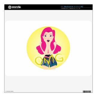 Inspiration Illustration: OMG Girl Skins For The MacBook