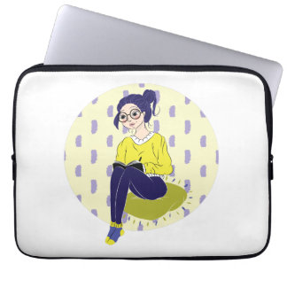 Inspiration Illustration: Reading and Writing Computer Sleeve