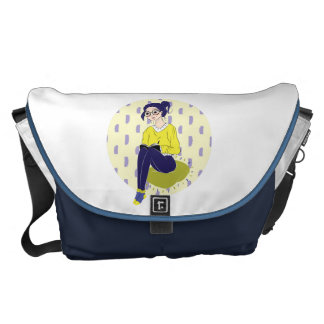 Inspiration Illustration: Reading and Writing Messenger Bag