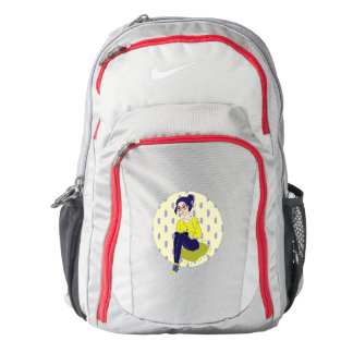 Inspiration Illustration: Reading and Writing Nike Backpack