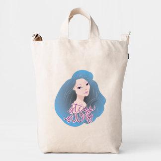 Inspiration Illustration: Strong Girl Duck Canvas Bag