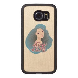 Inspiration Illustration: Strong Girl Wood Phone Case