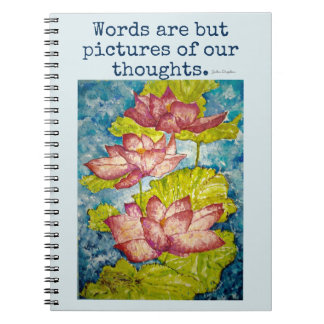 Inspiration Lotus Watercolor Art Notebook Journal