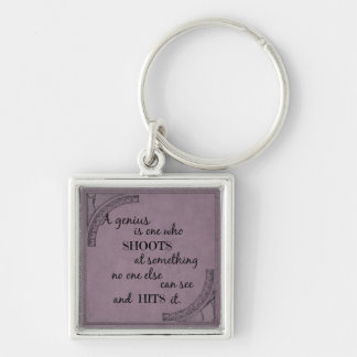 Inspiration motivational genius quotation keychain