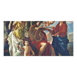 Inspiration Of The Poet,  By Poussin Nicolas Photo Cards