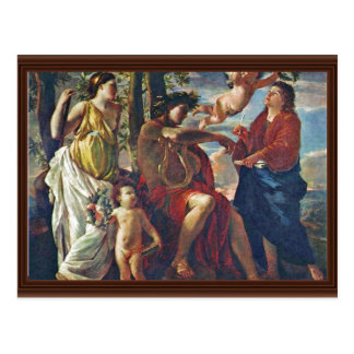 Inspiration Of The Poet,  By Poussin Nicolas Postcards