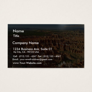 Inspiration Point At Bryce Canyon Business Card