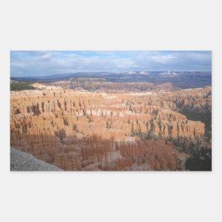 Inspiration Point, Bryce Canyon, Utah Rectangular Sticker