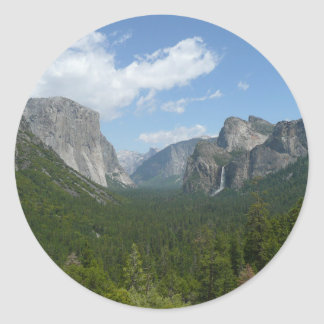 Inspiration Point in Yosemite National Park Classic Round Sticker