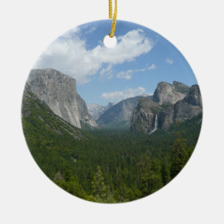 Inspiration Point in Yosemite National Park Double-Sided Ceramic Round Christmas Ornament