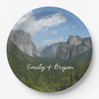 Inspiration Point in Yosemite National Park Paper Plate