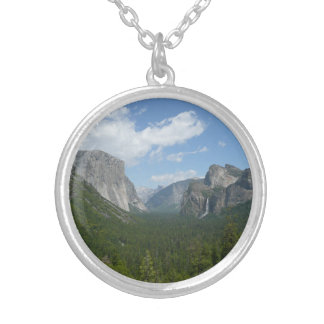 Inspiration Point in Yosemite National Park Round Pendant Necklace