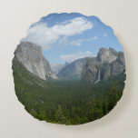 Inspiration Point in Yosemite National Park Round Pillow