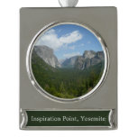 Inspiration Point in Yosemite National Park Silver Plated Banner Ornament