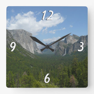 Inspiration Point in Yosemite National Park Square Wall Clock