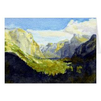 Inspiration Point, Yosemite: HOLIDAY Greetings Card