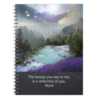 Inspiration Quotation on Beauty from Rumi Notebook