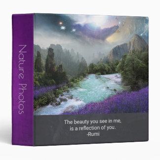 Inspiration Quotation on Beauty Nature Photos Binder