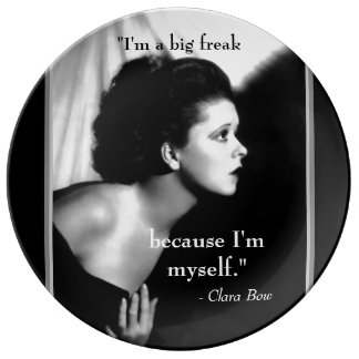Inspiration Quote Clara Bow 1920s Film Star Dinner Plate