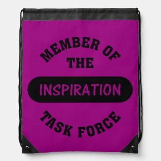 Inspiration Task Force Member Cinch Bags