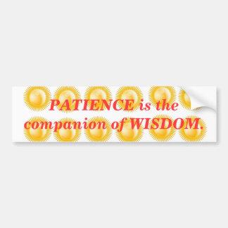 INSPIRATION : Wisdom Patience Bumper Sticker