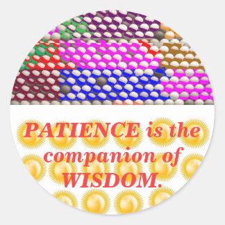 INSPIRATION : Wisdom Patience Round Stickers