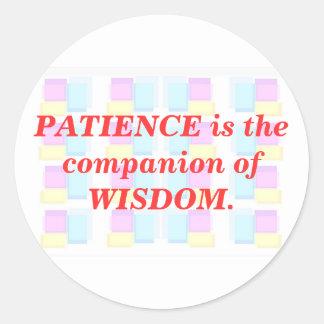 INSPIRATION : Wisdom Patience Sticker